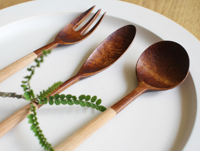 Handmade Utensils by Taisuke Hirabayashi at OEN Shop 5