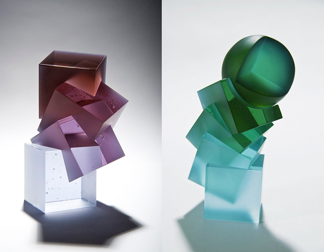 Colour,-Form-and-Light---Solid-Transparent-Glass-Sculpture-by-Heike-Brachlow-8