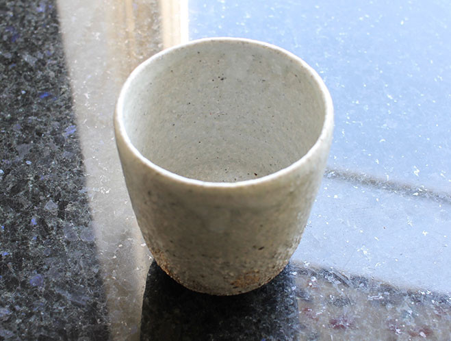 Back In at OEN Shop - Stoneware Water Cup by Swedish Potter Stefan Andersson 2