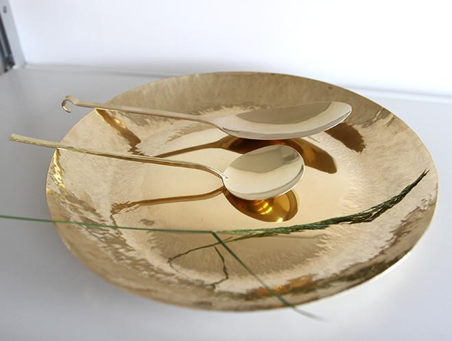 Brass Spoons and Dishes by Ruka Kikuchi of Lue Brass 1