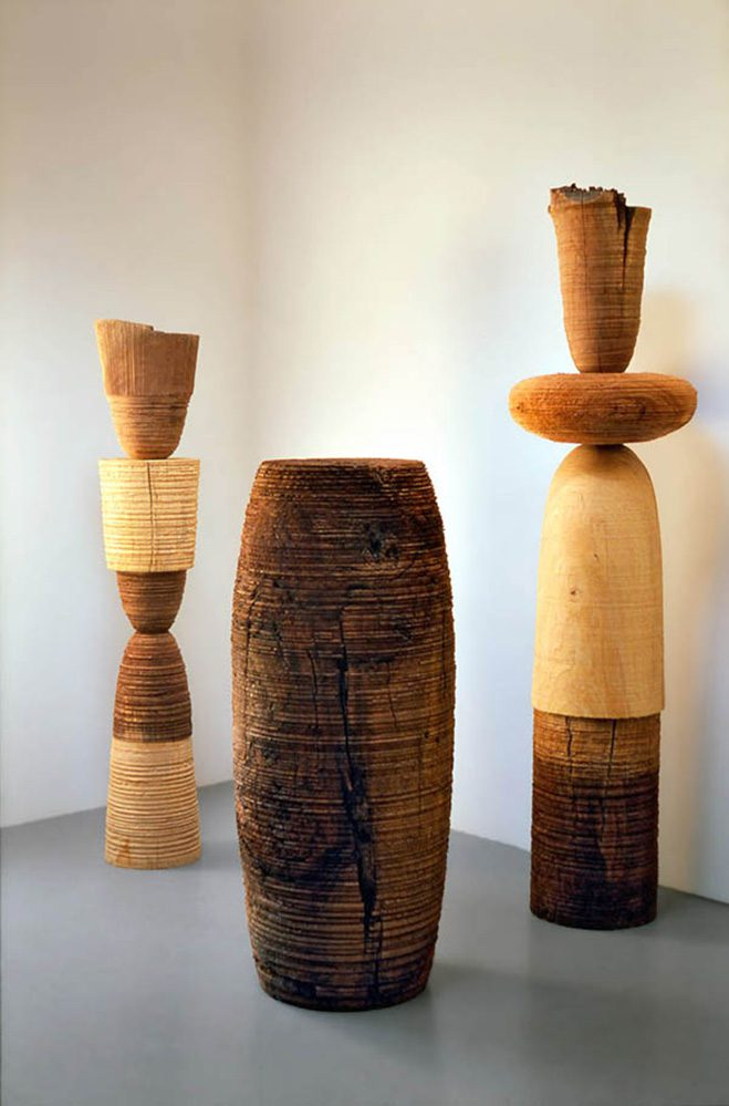 Ichiboku-&-Totemic-Series---Wooden-Sculptures-by-Mark-Lindquist-4