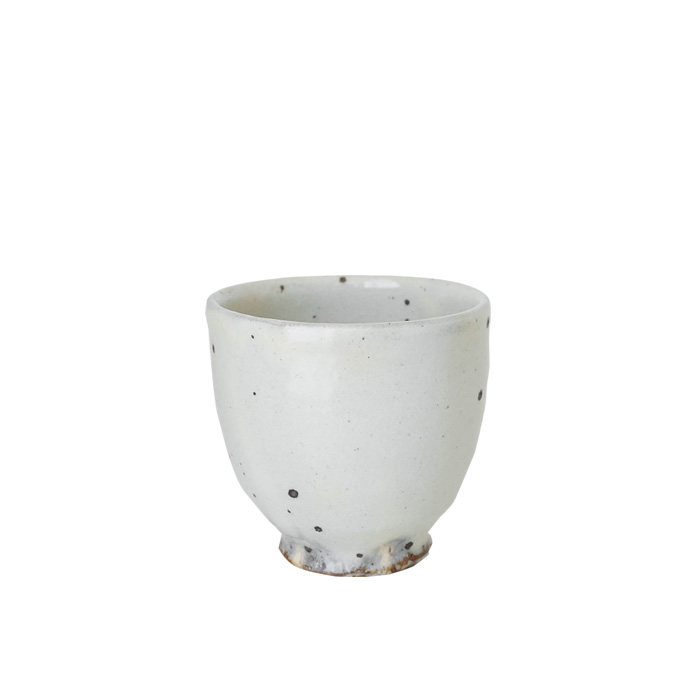 Spotted White Cup by Keiji Tanaka