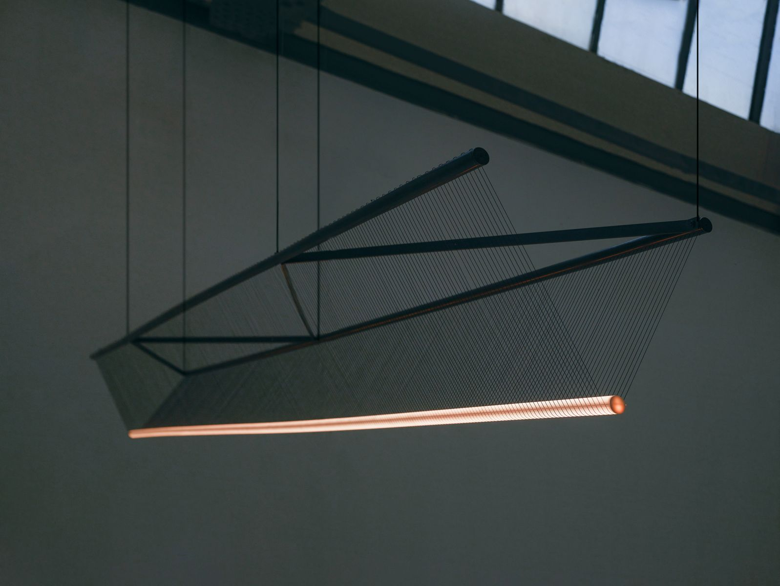 Spun Beam by Umut Yamac. Patinated brass, thread, stainless steel 3