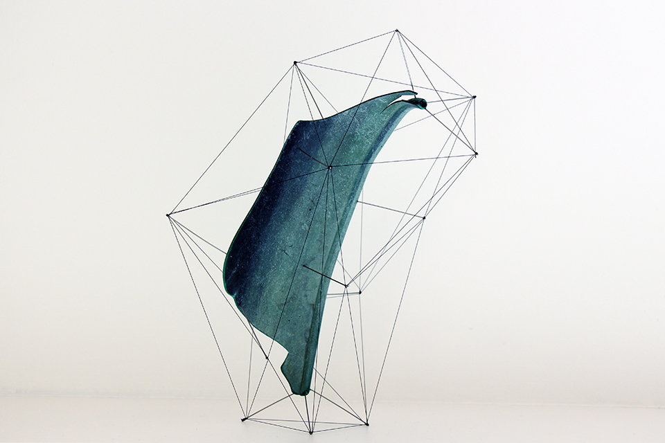 Suspended Wire Sculpture by Studio Note 1