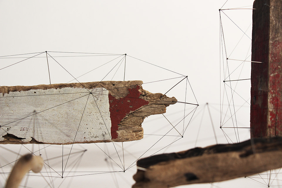 Suspended Wire Sculpture by Studio Note 5