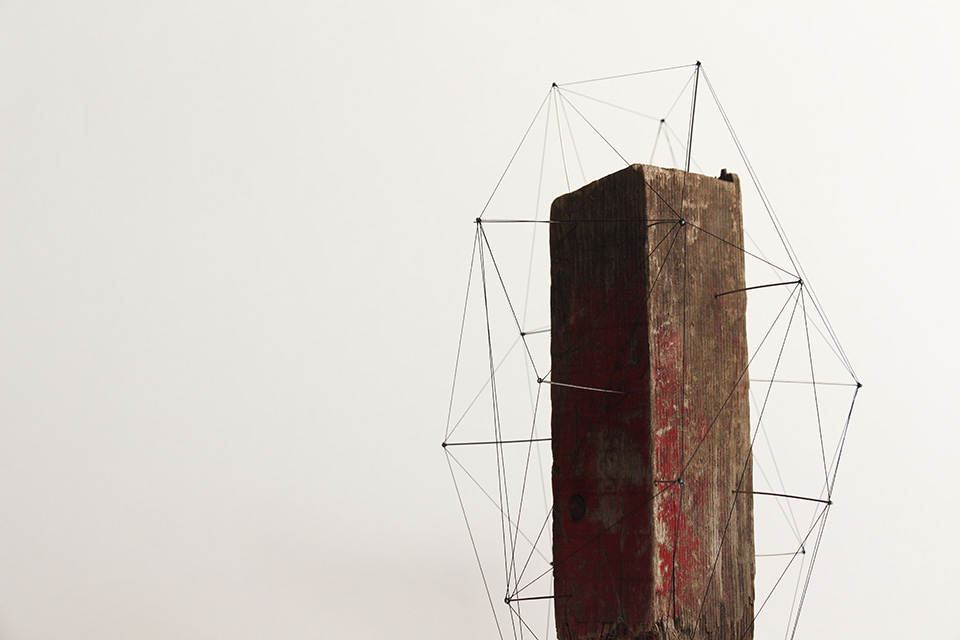 Suspended Wire Sculpture by Studio Note 7